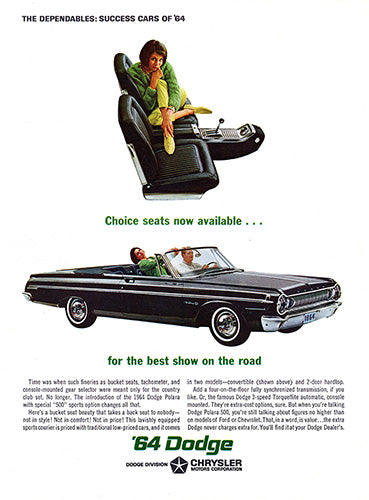 1964 Dodge Polara 500 Convertible     #100442