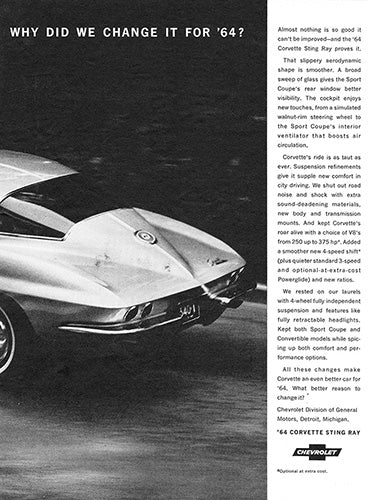 1964 Chevrolet Corvette Sting Ray      #100429