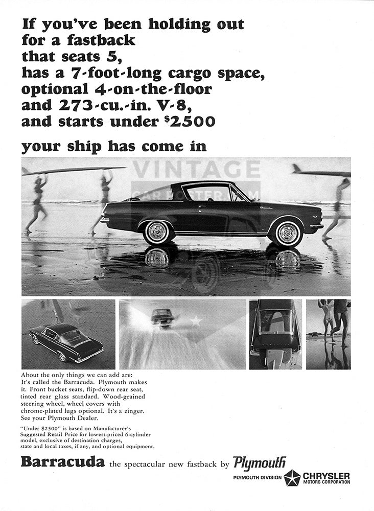 1964 Plymouth Chrysler Barracuda     #100518
