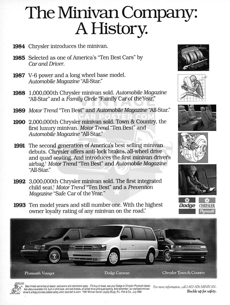 1993 Dodge Caravan Plymouth Voyager Chrysler Town & Country     #104126