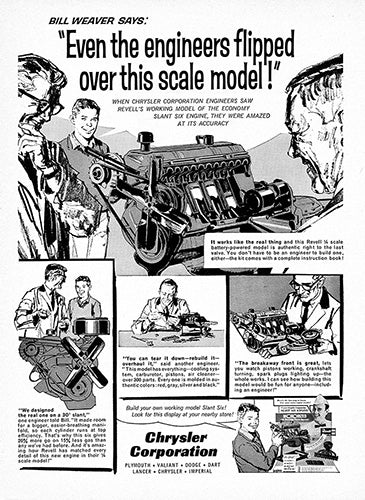 1962 Chrysler Corporation Scale Model Engine     #100222
