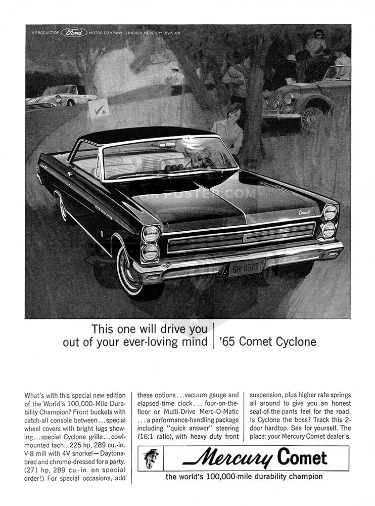 1965 Ford Mercury Comet Cyclone     #100636