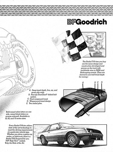 1981 BFGoodrich Tires Ford Mustang GT      #102970