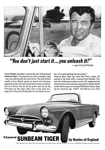 1964 Sunbeam Tiger V8 Shelby     #100552