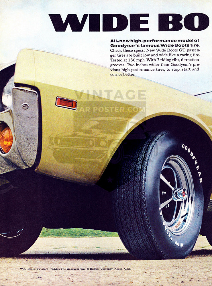 1968 Goodyear Tires Wide Boots GT AMC American Motors Javelin SST      #101039