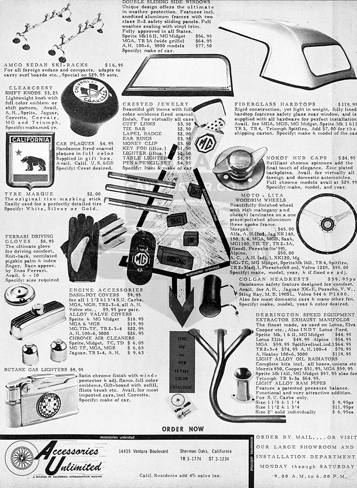1963 Accessories Unlimited Mail Order     #100286