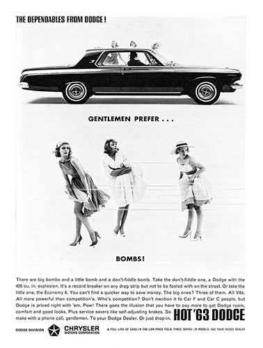 Dodge Car Poster, 1963 Dodge 426 Ramcharger, Vintage Ad Wall Art
