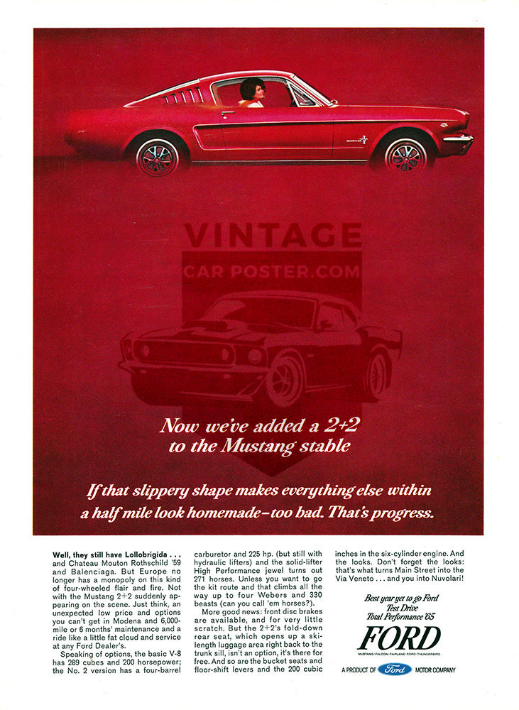 1965 Ford Mustang 2+2     #100641