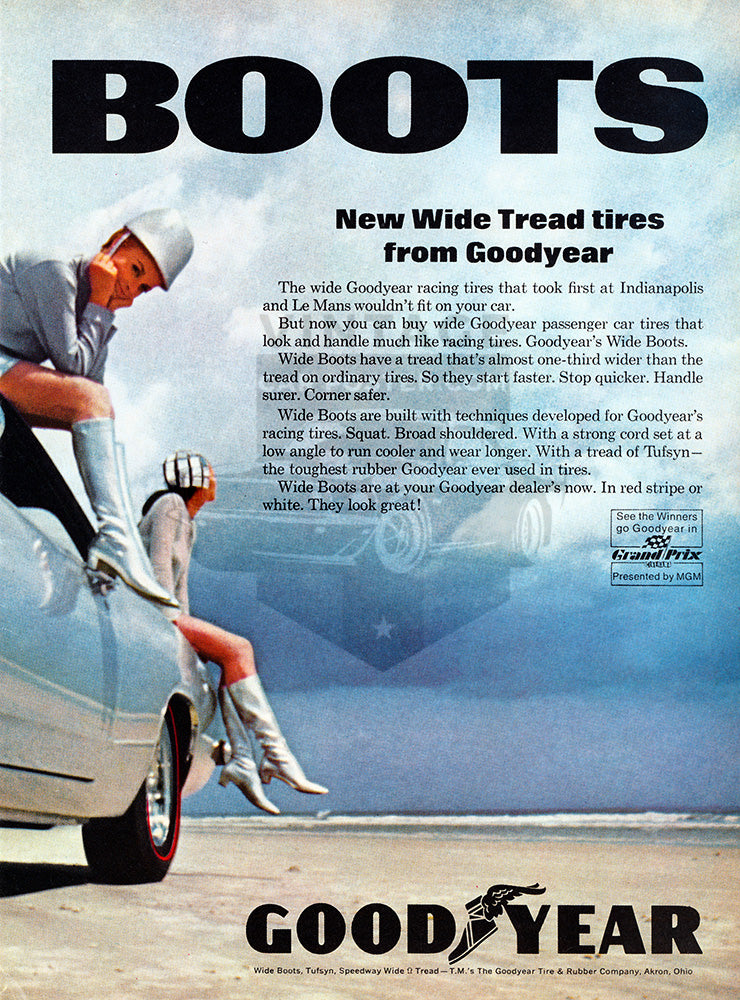 1967 Goodyear Tires Wide Boots Plymouth Barracuda      #100877