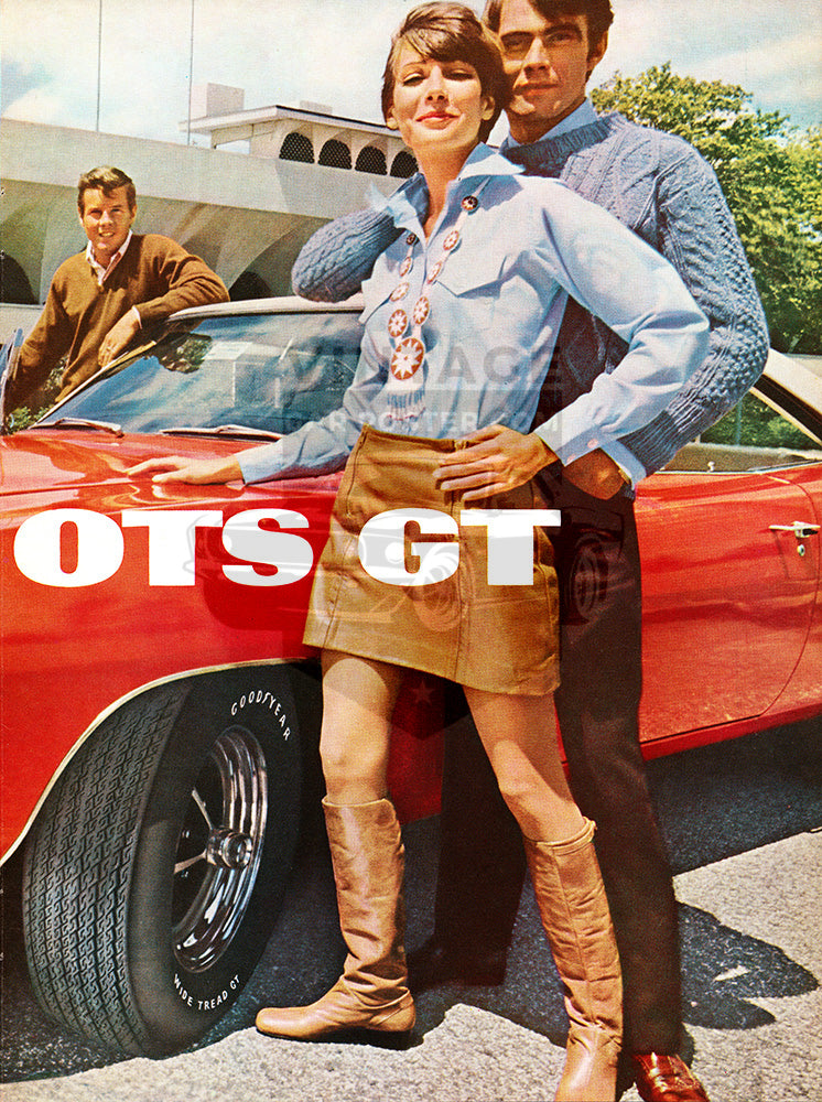 1968 Goodyear Tires Wide Boots GT Dodge Charger RT      #101049
