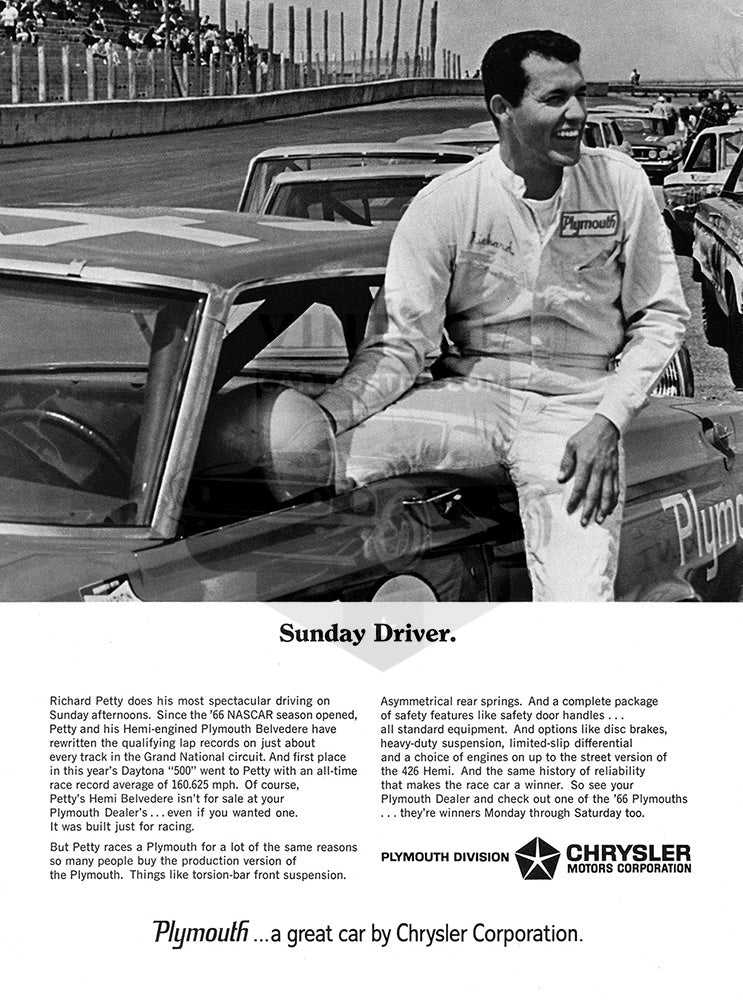 Chrysler Car Poster, 1966 Chrysler Plymouth Belvedere, Vintage Ad Wall Art