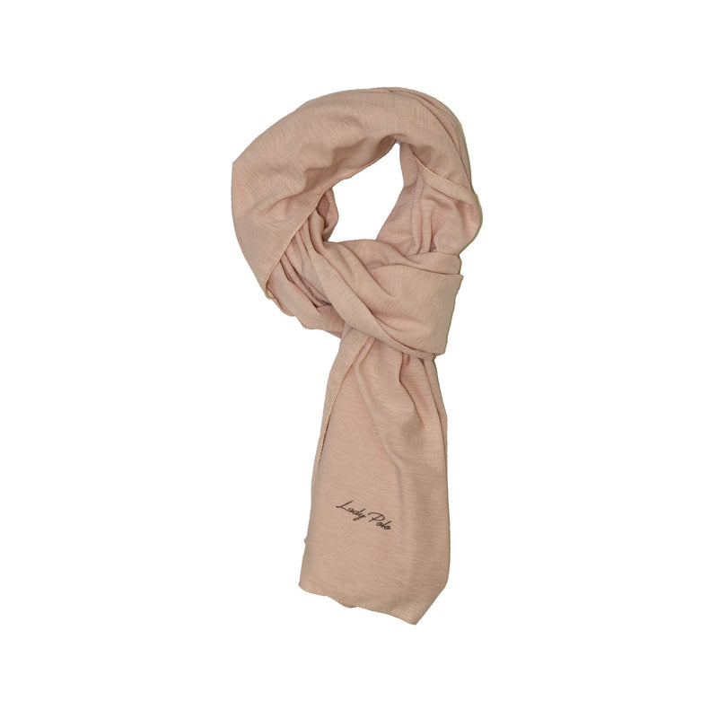 NUDE JERSEY GRID SCARF