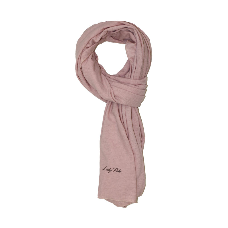 PINK JERSEY GRID SCARF