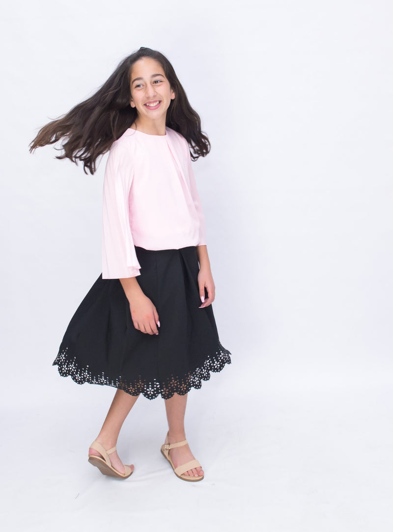 GIRLS PLEATED TOP
