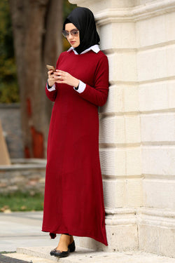 RIB KNIT DRESS,WINTER DRESS,NEVA STYLE DRESS,MADE IN TURKEY