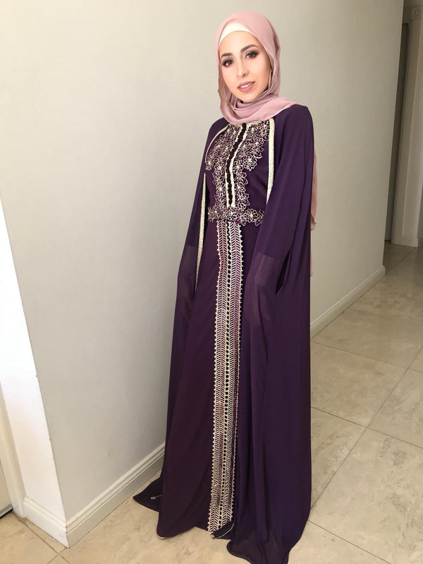 EMAN CAPE DRESS