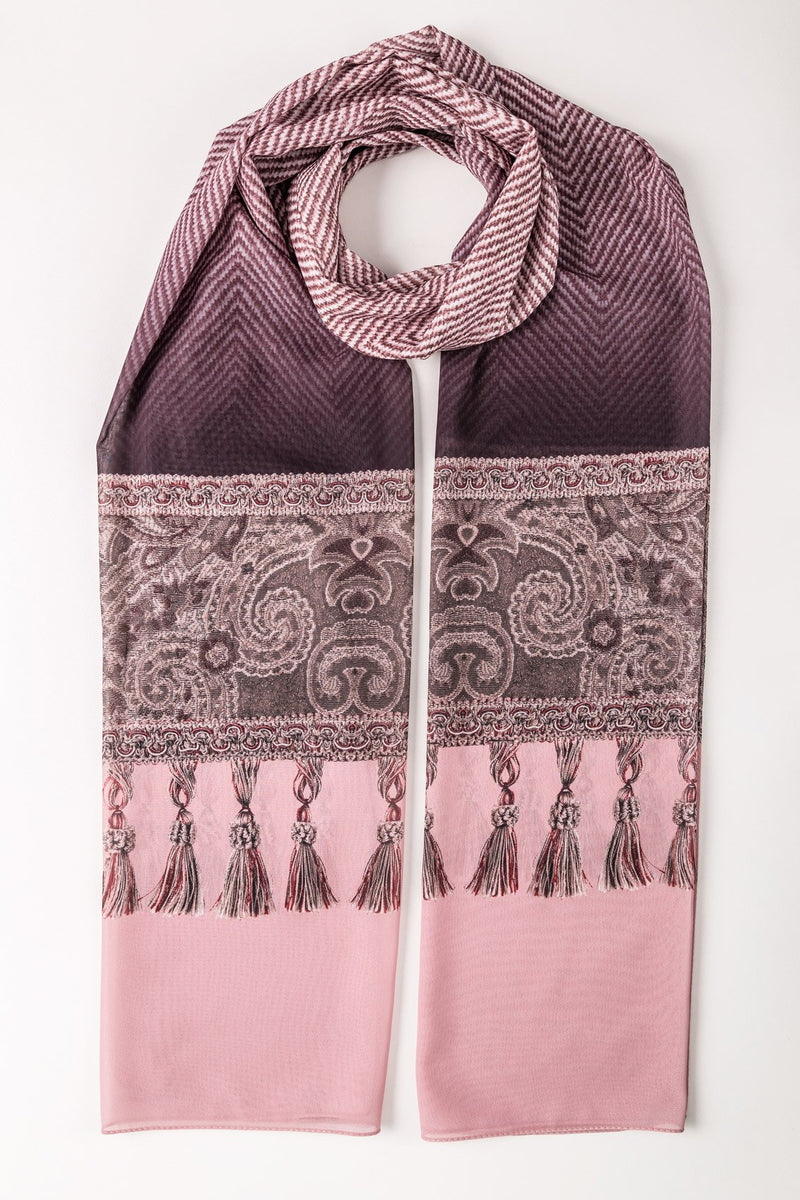 DANGLING TASSEL LONG SCARF