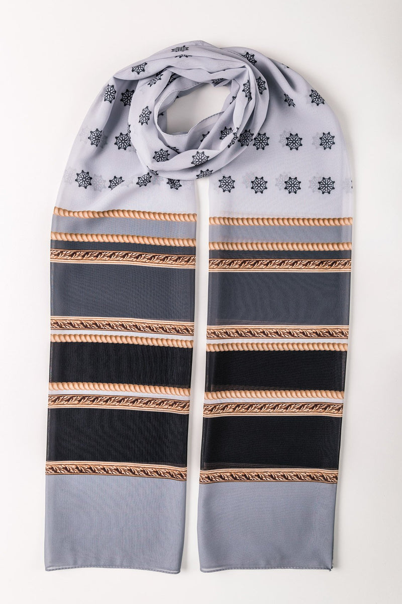 GOLD CHAIN PRINTED LONG SCARF