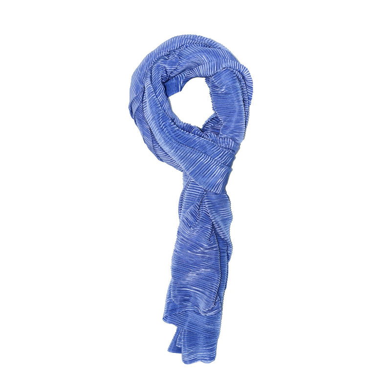 BLUE PLEATED SCARF