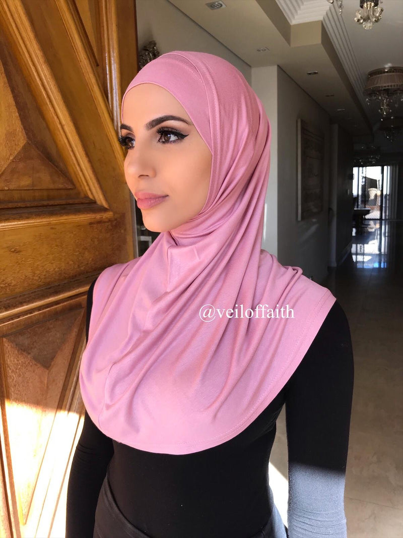 2 PIECE PINK COTTON SCARF