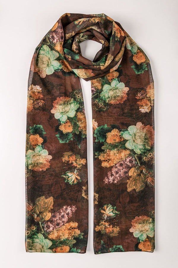 PRINTED EARTH SCARF