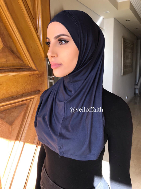 2 PIECE NAVY COTTON SCARF