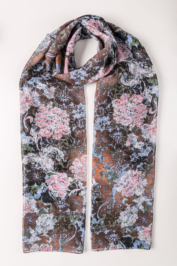 PRINTED CARNATION SCARF