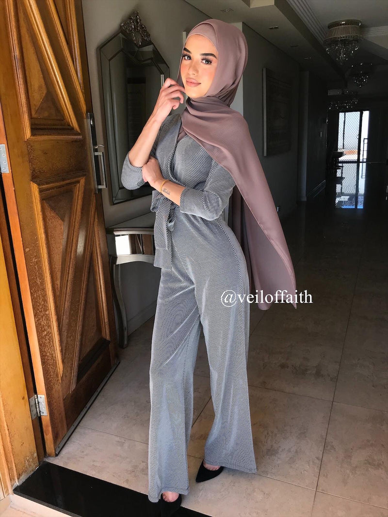 PIN STRIPPED JUMPSUIT