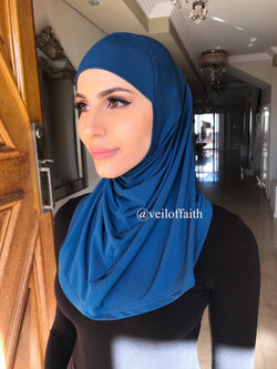 1 PIECE MID BLUE SCARF