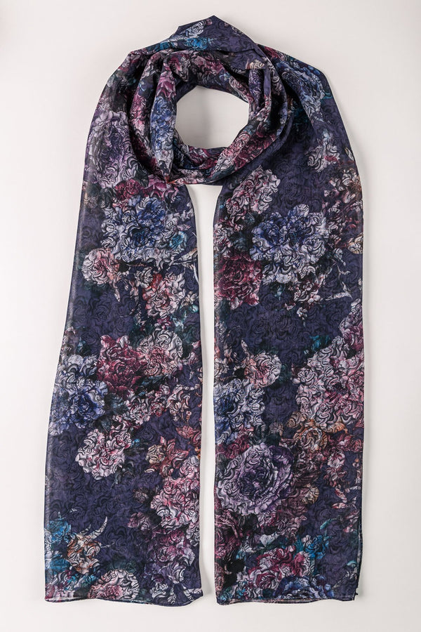 PRINTED PURPLE SCARF