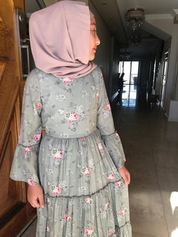GIRLS MINT GARDEN DRESS