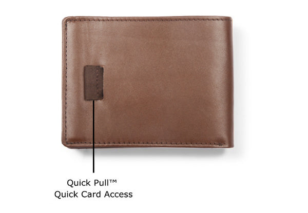 Sleek Ultra Slim Leather Wallet