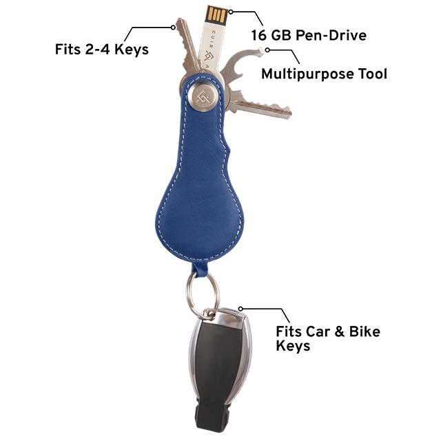 Leather Key Holder + Multipurpose Tool + Pen Drive - Davy Taylor