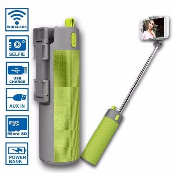 Selfie Stick with Power Bank, Speaker, Timer and Phone Holder - Davy Taylor