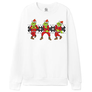 """Do You Love Me Grinch Keke Challenge"" White Crew Neck"