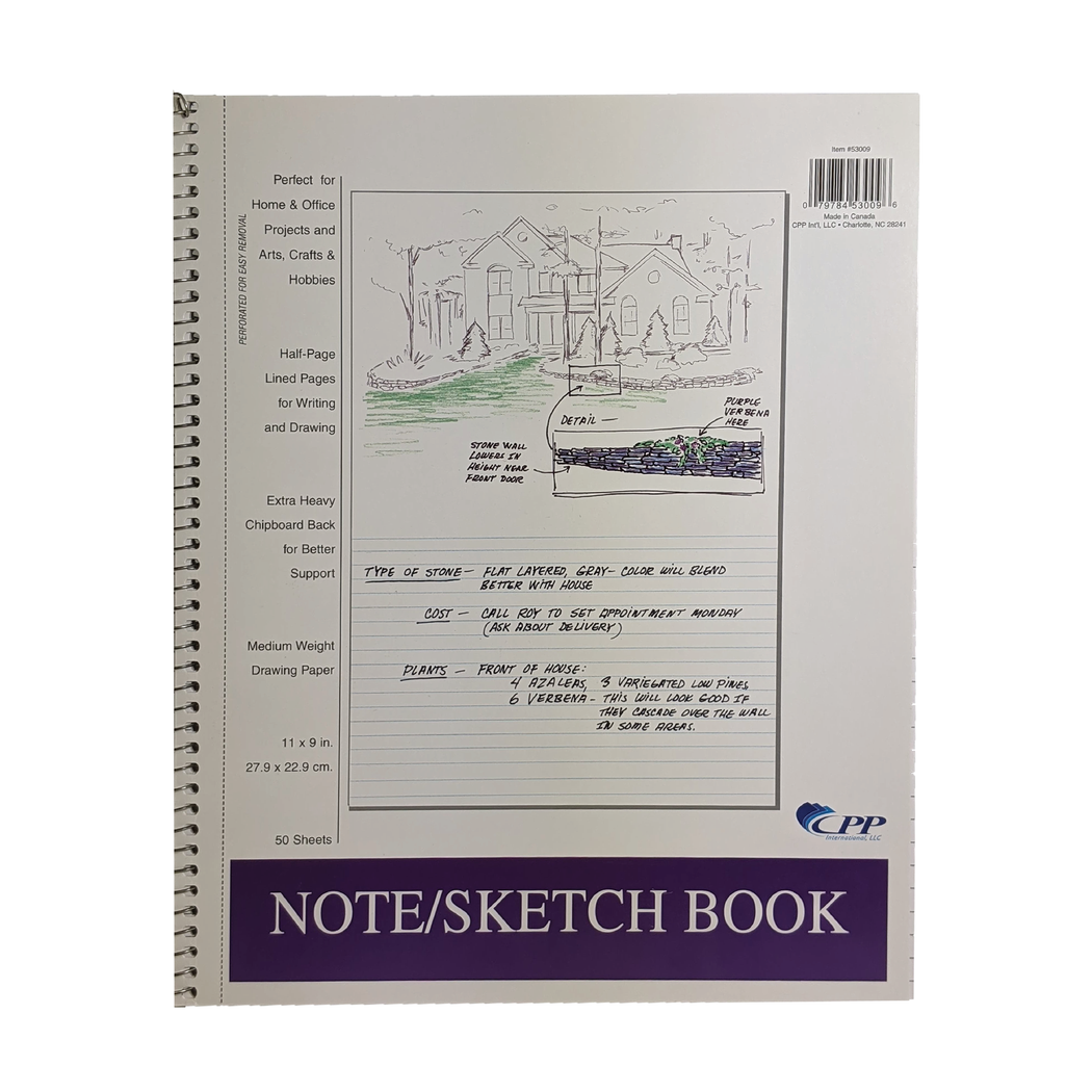 50 Sheet Note & Sketch Book