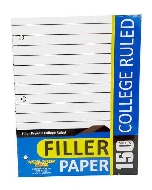 College Ruled Filler Paper 150 sheet