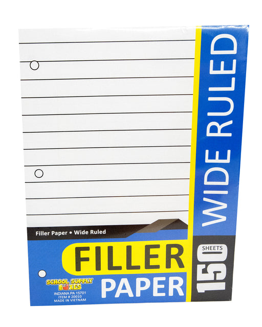 Wide Ruled Filler Paper 150 sheet