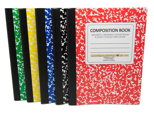 College Ruled Composition Notebook 100 sheets