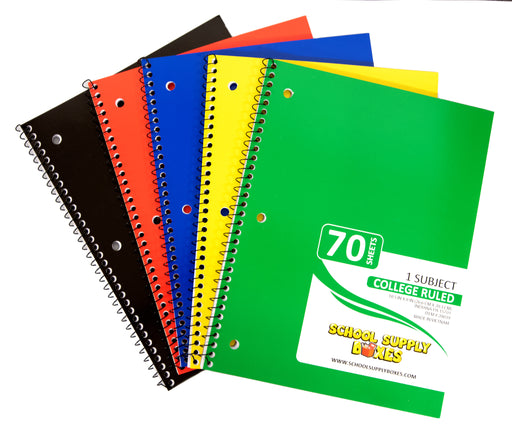 College Ruled Spiral Notebook 70 Sheets