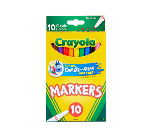 Crayola Fine Line Markers 10 Pack Classic Color