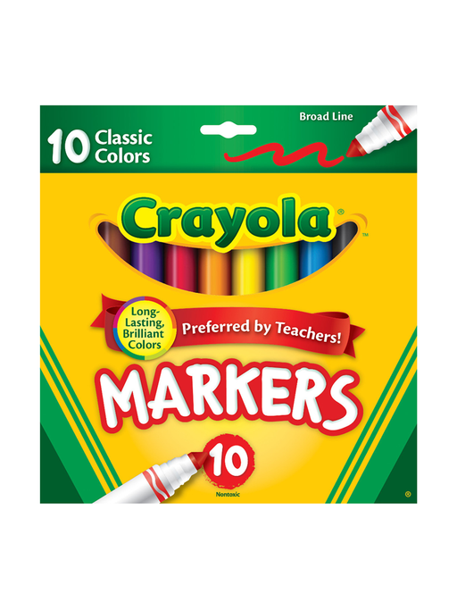 Crayola 10 Pack Broad Lined Markers