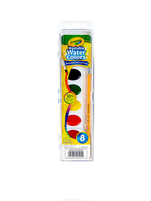 Crayola Washable Water Colors Paint Set