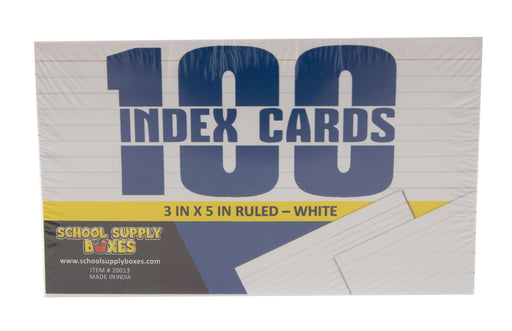 "3"" X 5"" Ruled Index Cards"