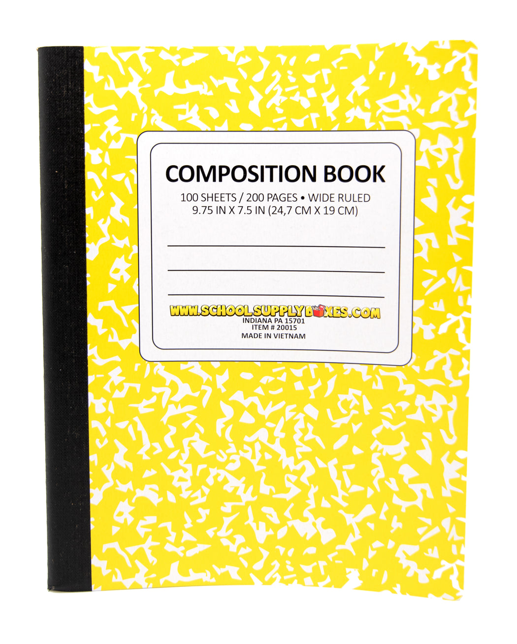 Wide Ruled 100 Sheet Composition Notebook