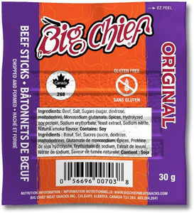 30g Original  Beef Stick from Big Chief Meat Snacks Calgary