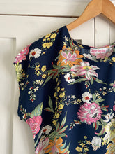Load image into Gallery viewer, Shift Dress in Navy & Vintage Floral