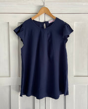 Load image into Gallery viewer, Venice Frill Top in Navy