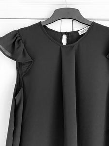 Venice Frill Top in Black