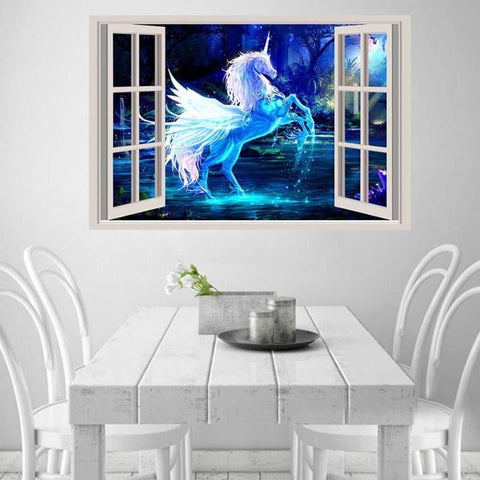 Rainbow Unicorn Print Unicorn Girls Room Unicorn Quote Unicorn
